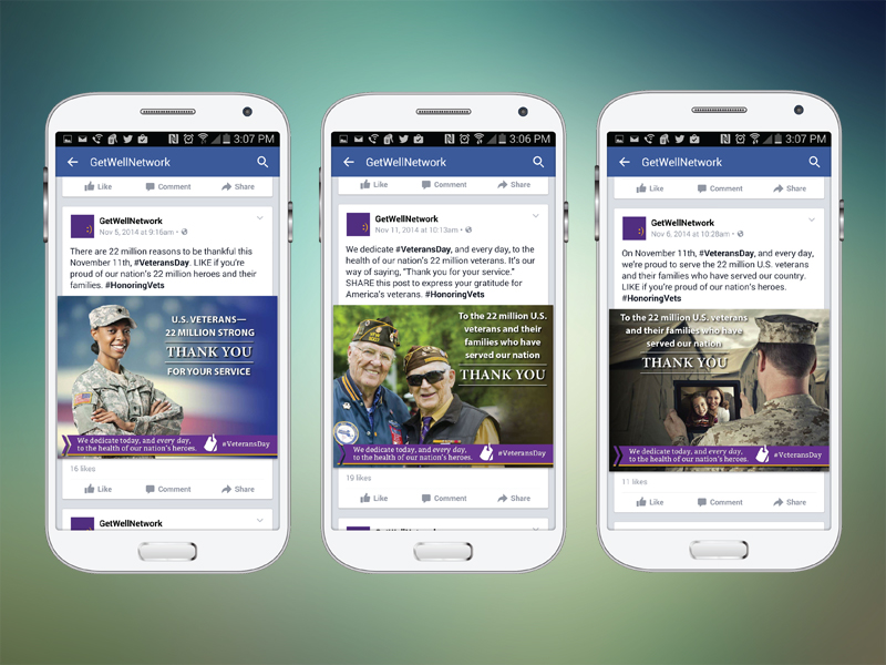 Palladian developed social media graphics that were easily shareable with GetWellNetwork's clients throughout the VA system.