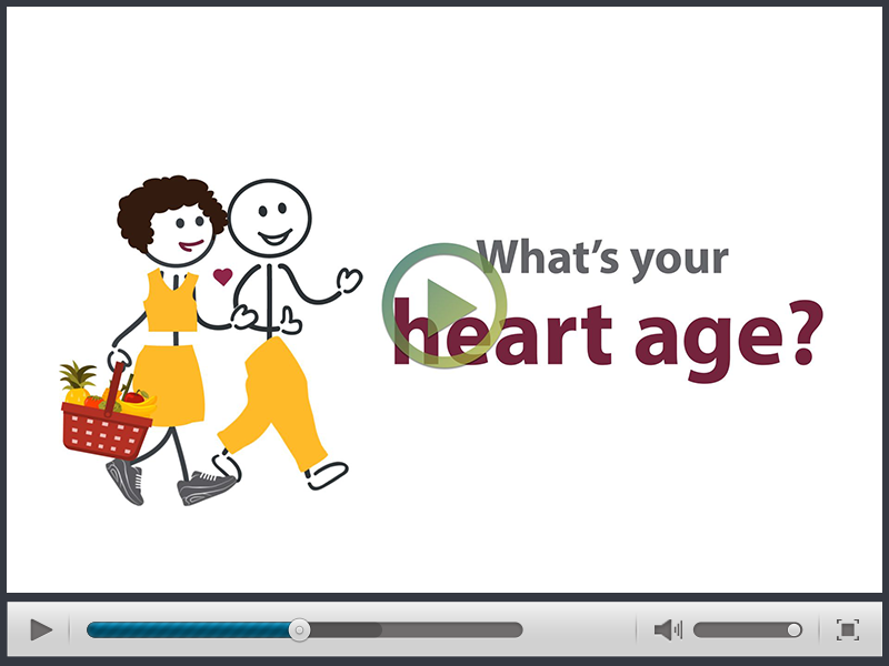 Palladian created an animated video infographic to explain Heart Age, a new way of understanding a person's risk of dying from heart attack or stroke.