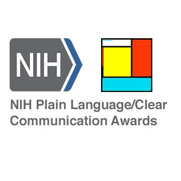 An image for the NIH Plain Language/Clear Communication Awards
