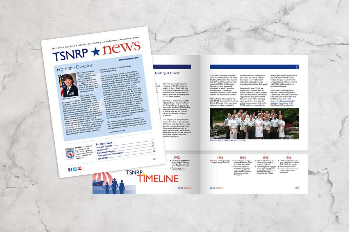 TriService Nursing Research Program (TSNRP) News
